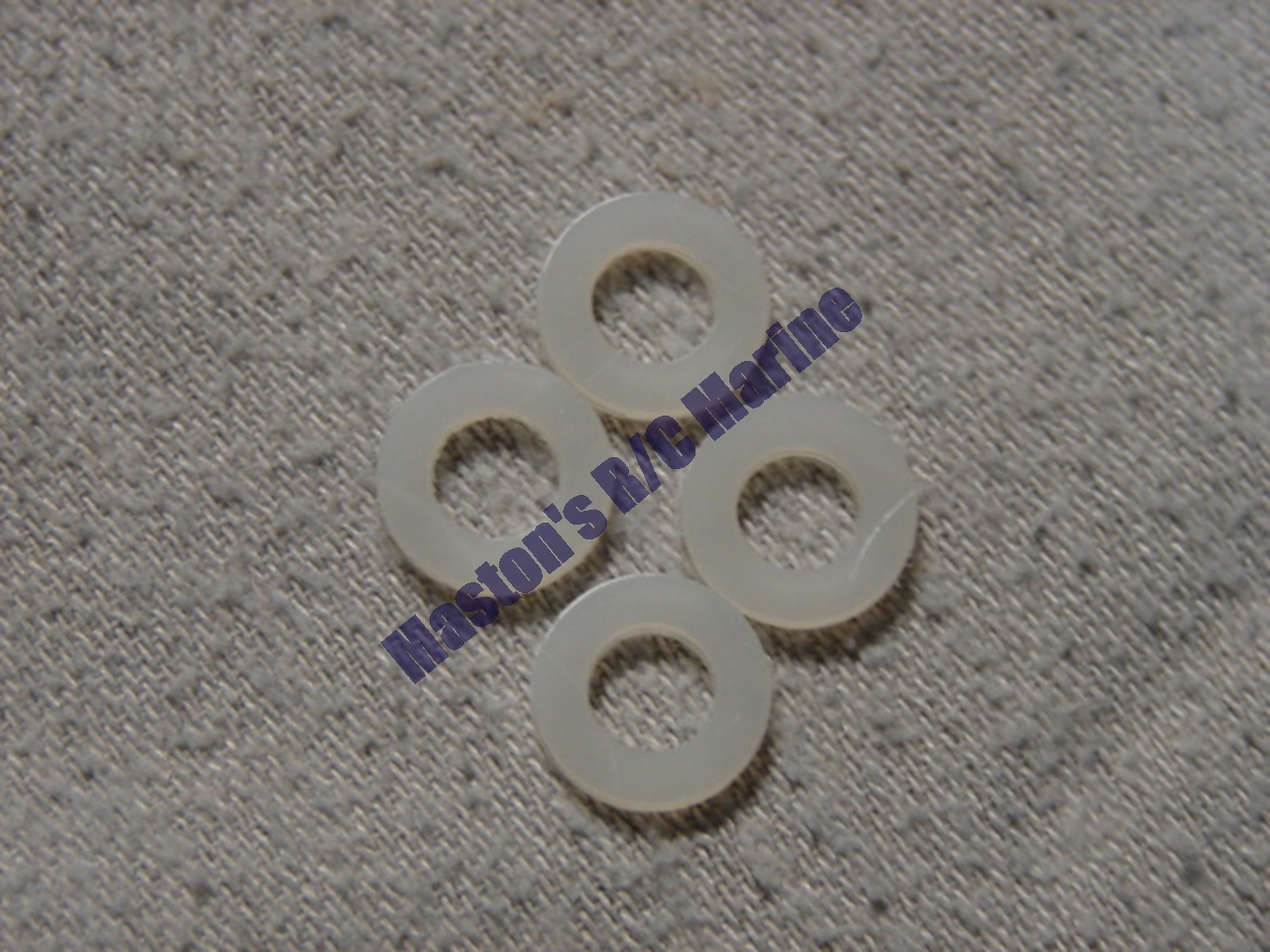 """Picture of 1/4"""" nylon thrust washers"""
