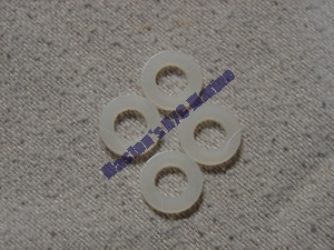 "Picture of 1/4"" nylon thrust washers"