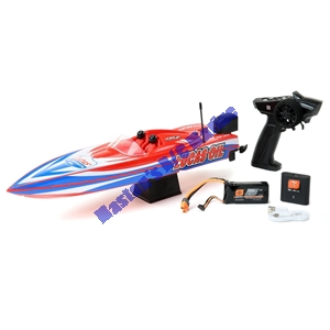 "Picture of 17"" Power Boat Racer Deep-V RTR, Lucas Oil"
